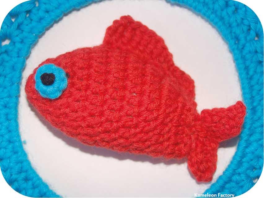 poisson au crochet fait main par Kameleon Factory