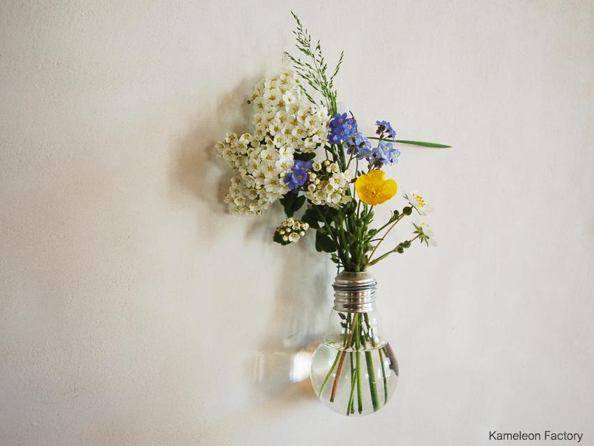 Diy vase en upcycling avec une ampoule