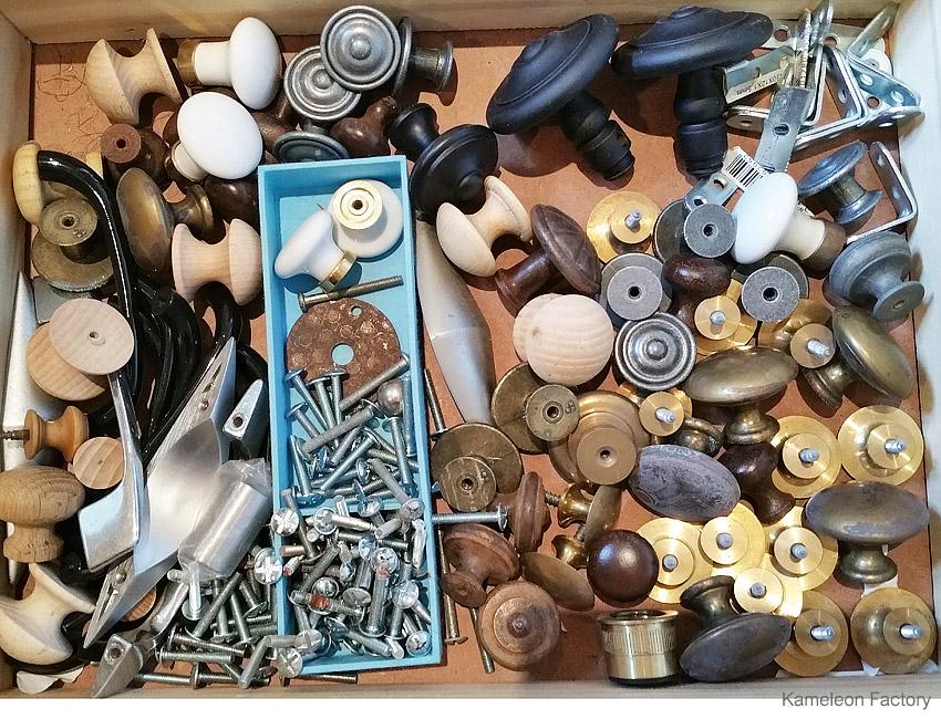 stock boutons de tiroir