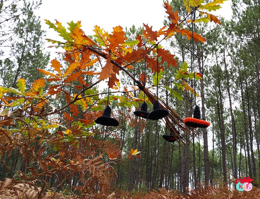halloween au crochet en forêt