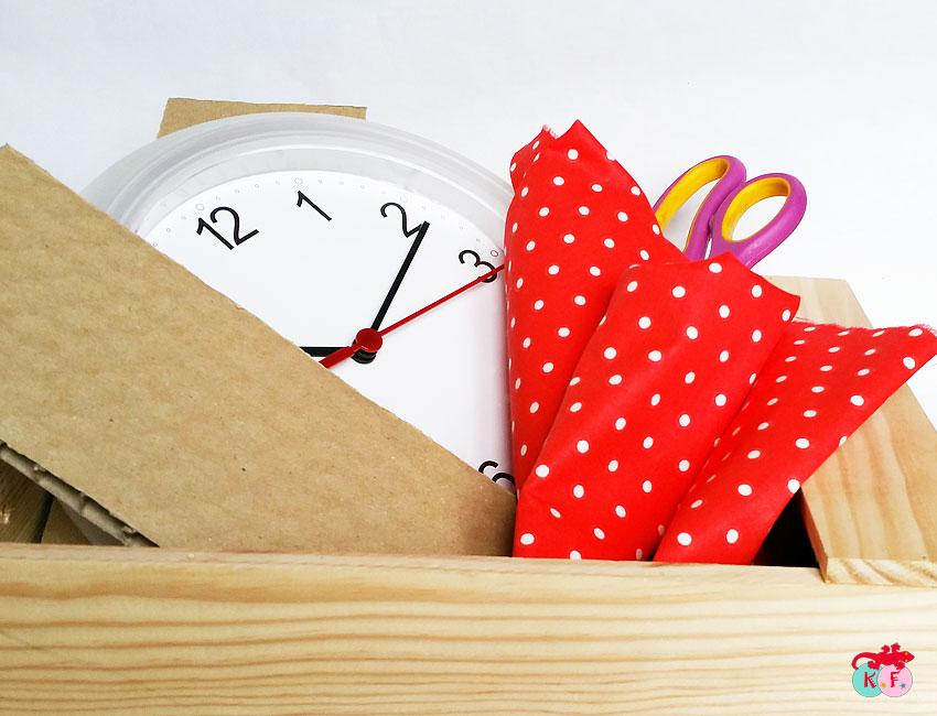 Materiel pour réaliser le DIY Horloge