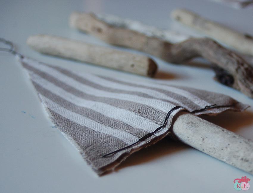 sapin bois tissu à réaliser sans couture