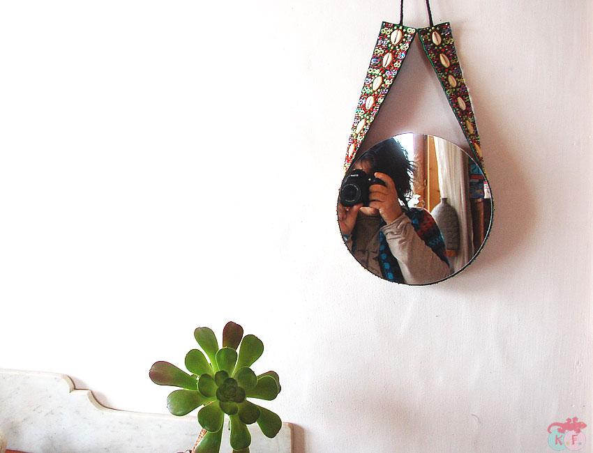 Miroir ceinture upcycling