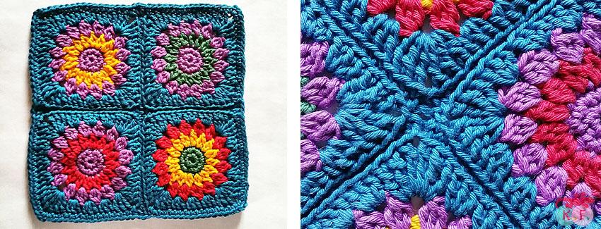composition de granny au crochet