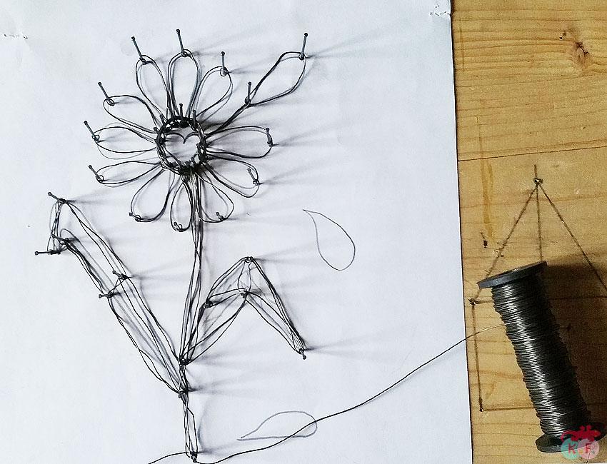 fleur fil de fer amour