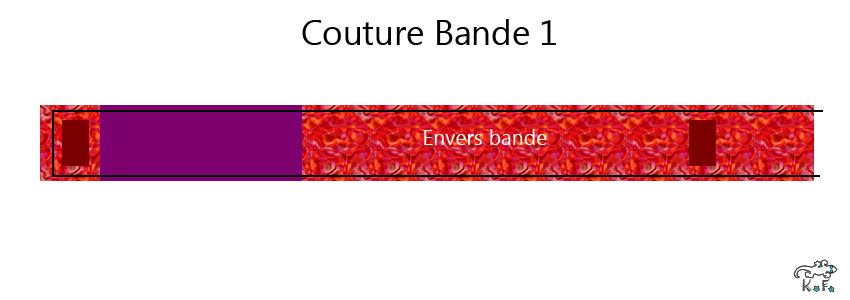 Couture 1 bandeau porte crayon de carnet DIY