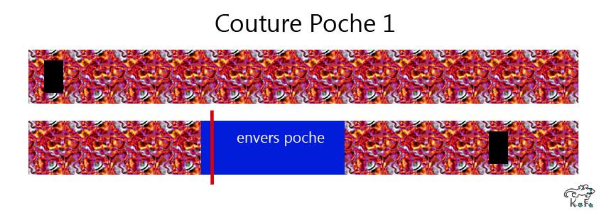couture poche 1 porte crayon bujo