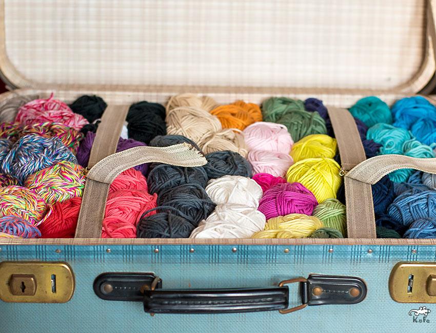valise transport de laine