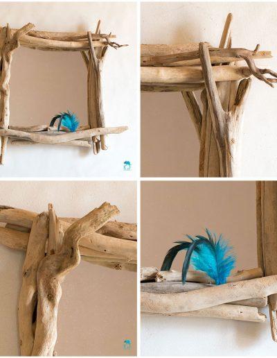 Miroir vénus en bois flotté par Kameleon Factory